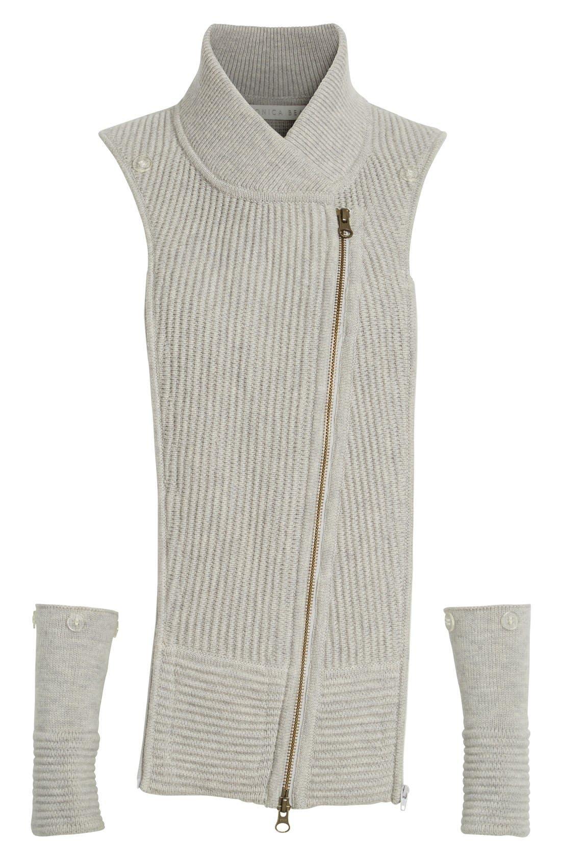 'Ottoman' Wool Dickey,                             Main thumbnail 1, color,                             Grey