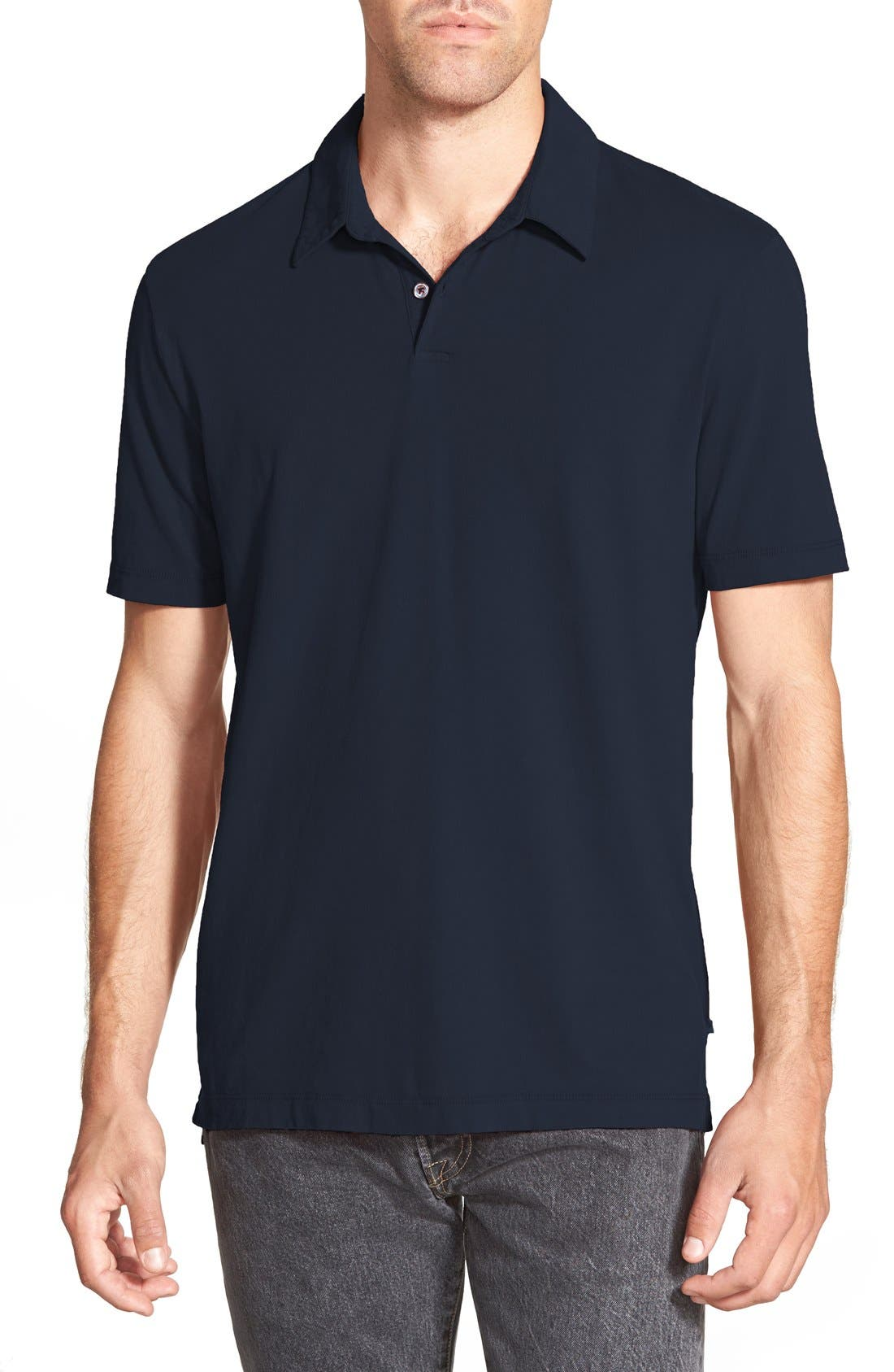 Slim Fit Sueded Jersey Polo,                         Main,                         color, Deep