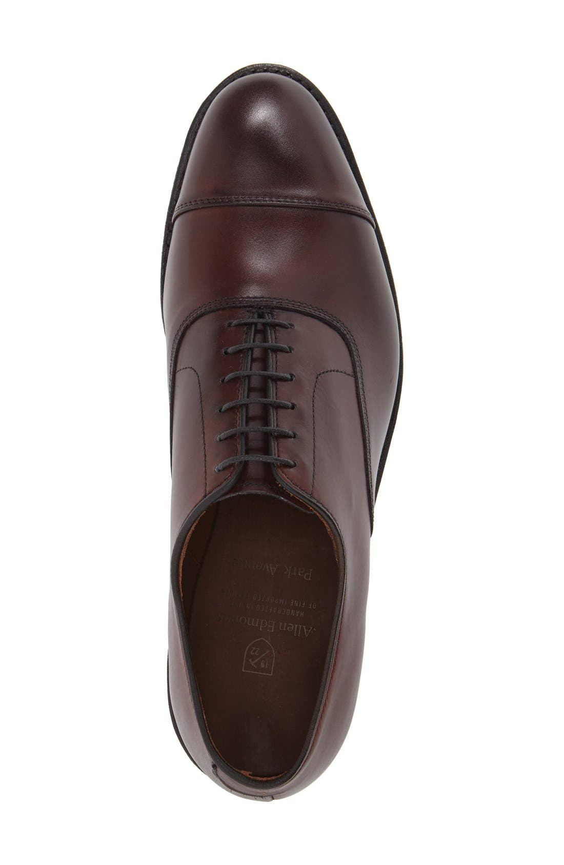 'Park Avenue' Cap Toe Oxford,                             Alternate thumbnail 3, color,                             Oxblood