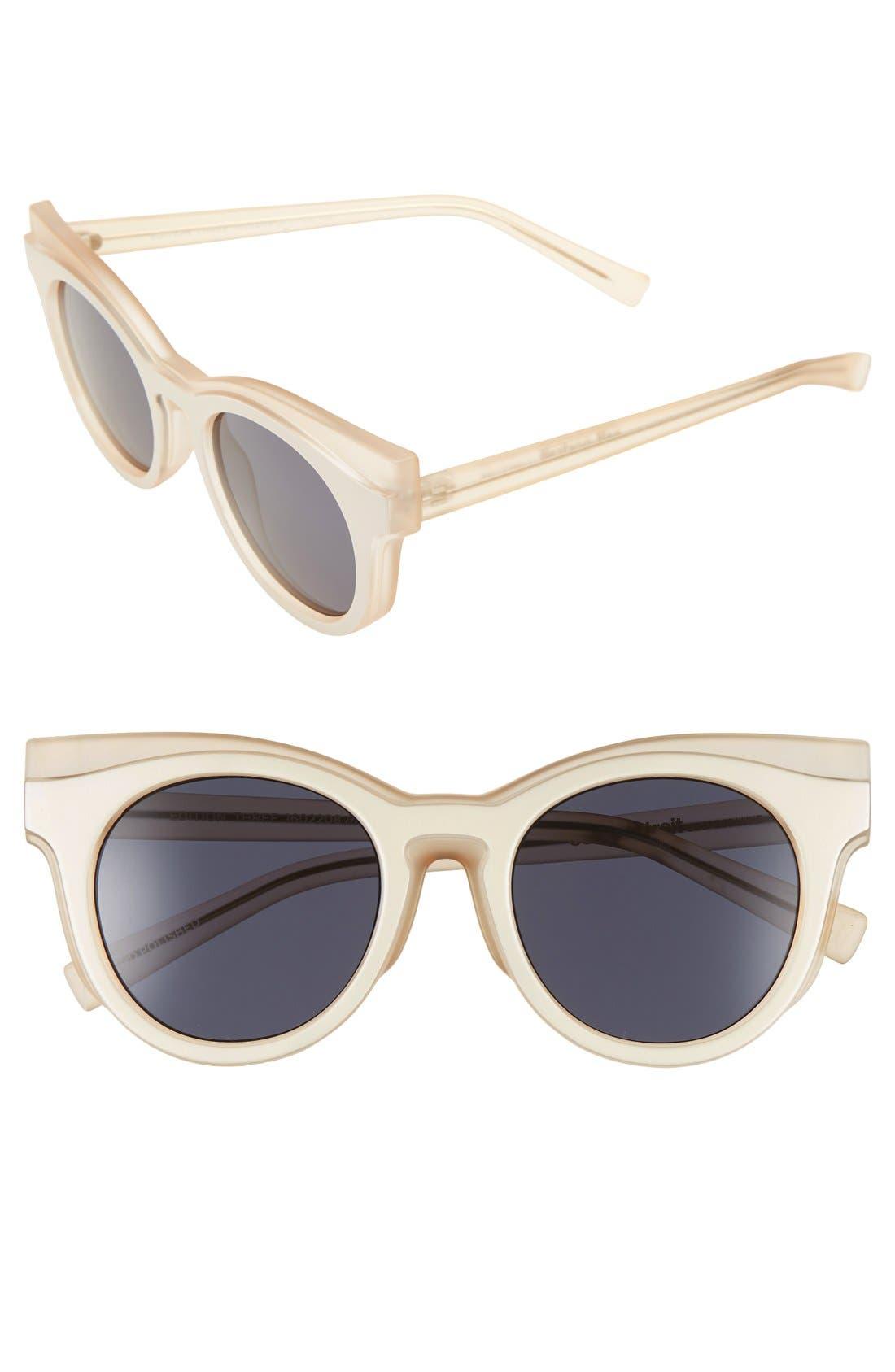 'Edition Three' 51mm Cat Eye Sunglasses,                             Main thumbnail 1, color,                             Matte Blush/ Amber Tort