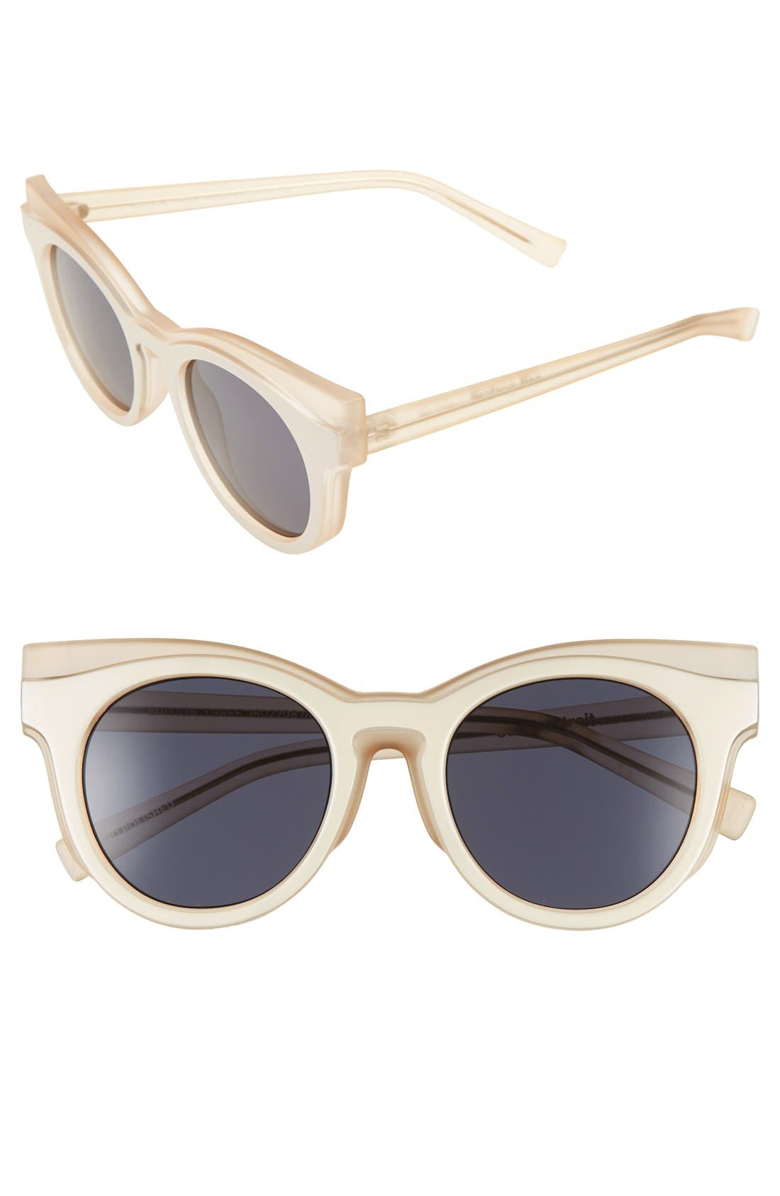 'Edition Three' 51mm Cat Eye Sunglasses,                         Main,                         color, Matte Blush/ Amber Tort
