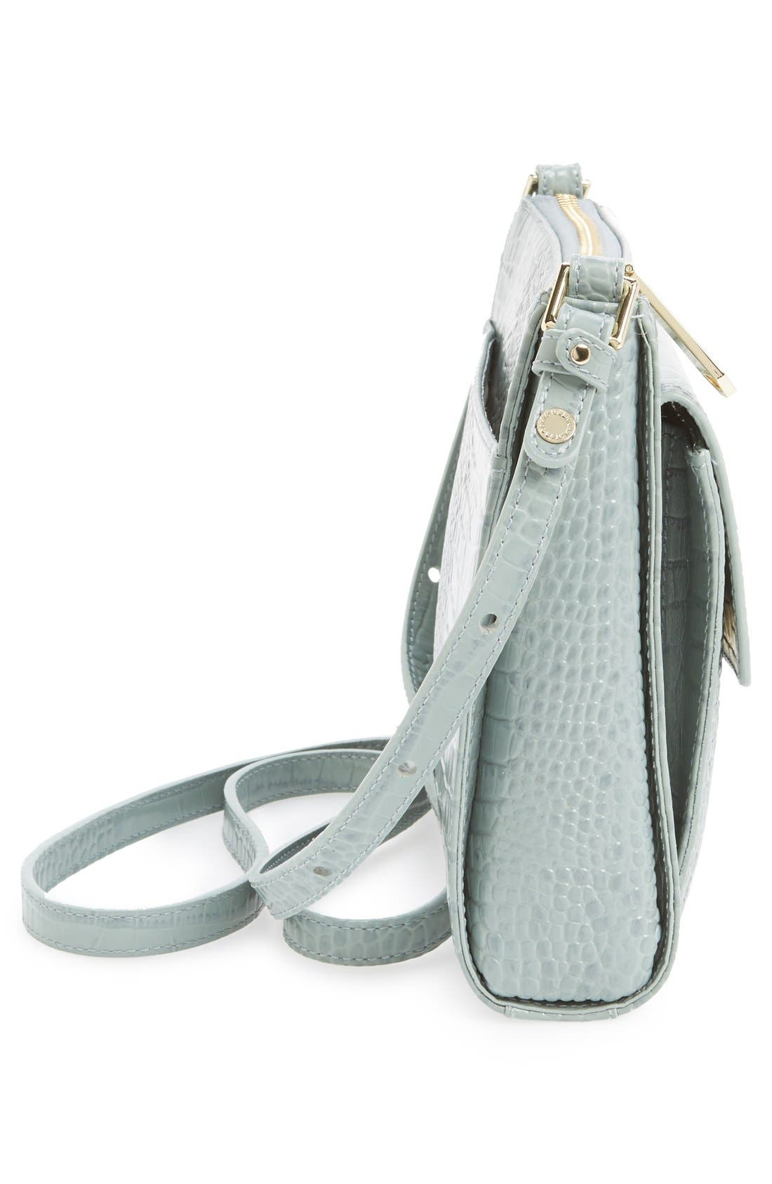Alternate Image 5  - Brahmin 'Mimosa' Croc Embossed Leather Crossbody Bag