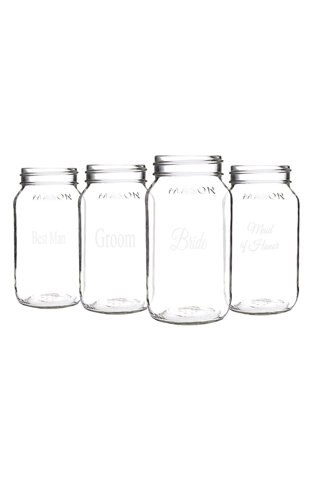 Alternate Image 4  - Cathy's Concepts 'Wedding Party' Mason Jars (Set of 4)