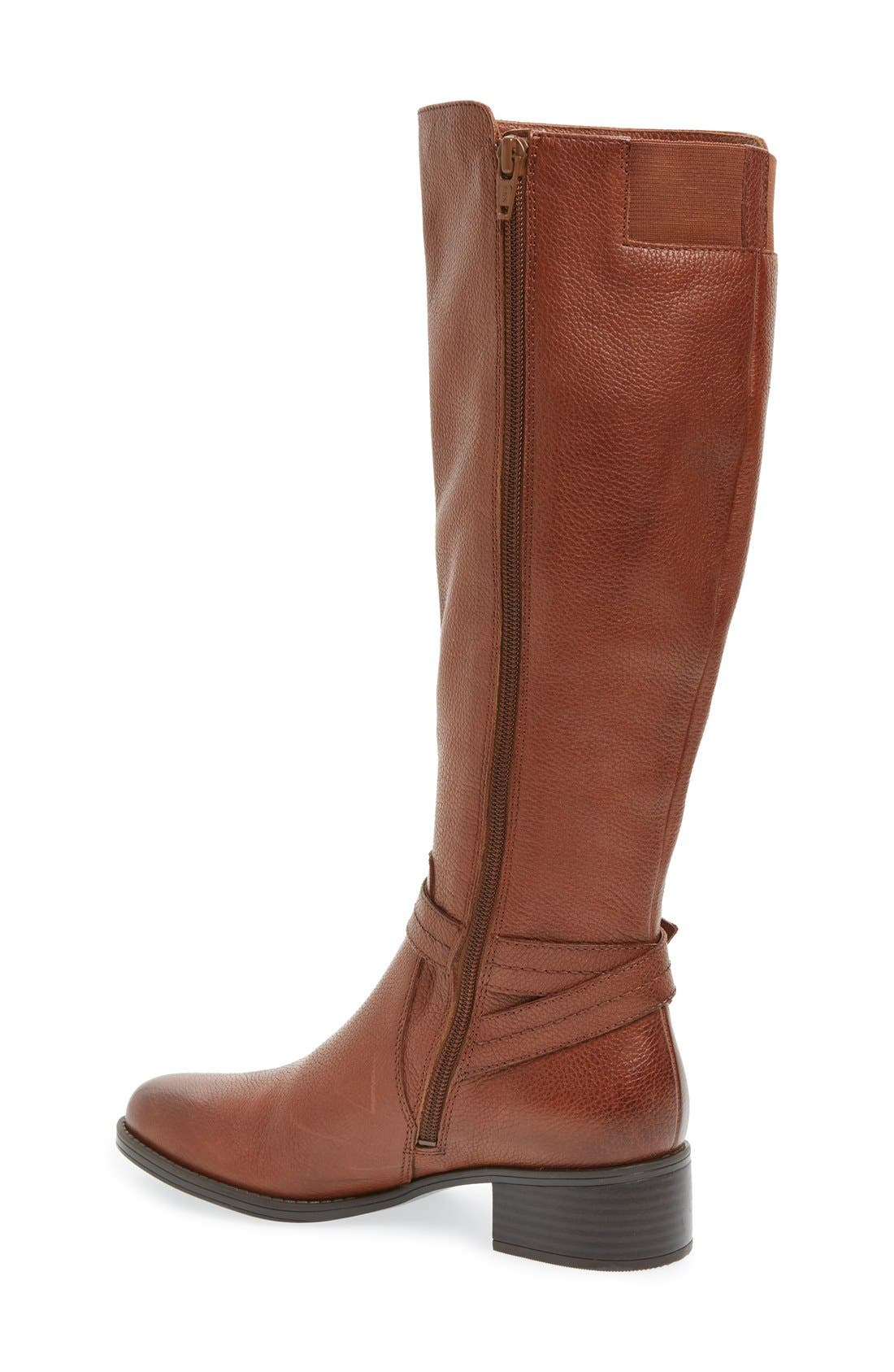 'Jelina' Riding Boot,                             Alternate thumbnail 2, color,                             Brown Leather