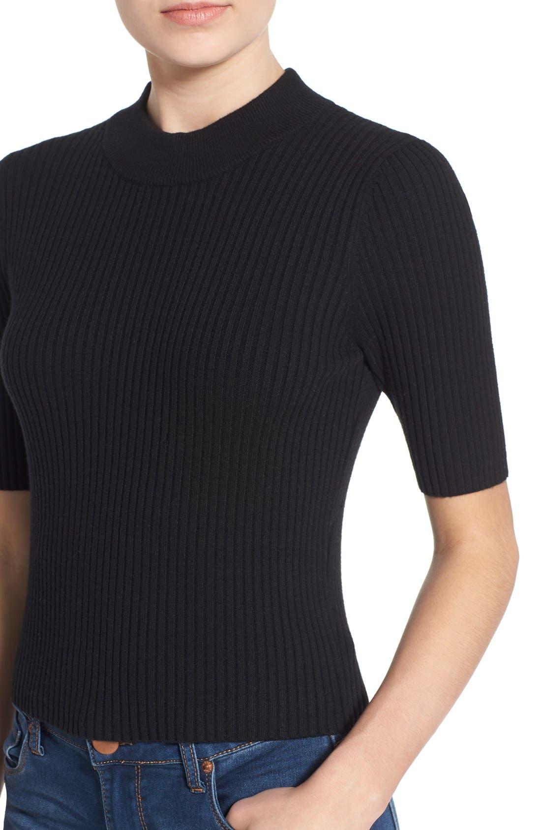 Alternate Image 4  - BP. Short Sleeve Rib Knit Pullover