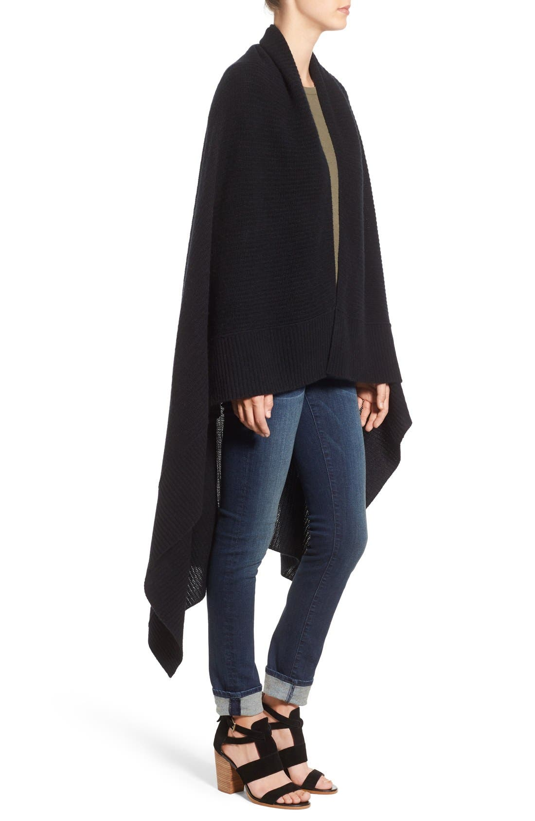Alternate Image 3  - Halogen® Rib Knit Cashmere Wrap