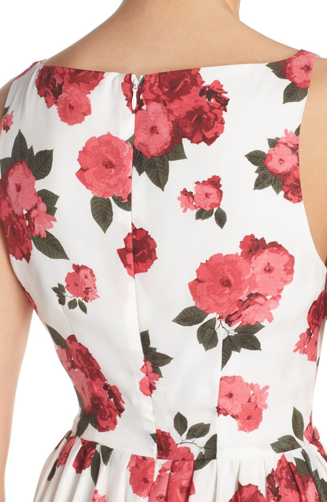 Alternate Image 4  - BB Dakota 'Claudia' Floral Crepe Fit & Flare Dress