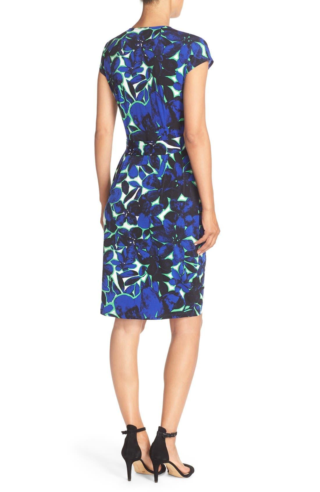 Alternate Image 2  - Maggy London Print Wrap Dress (Regular & Petite)