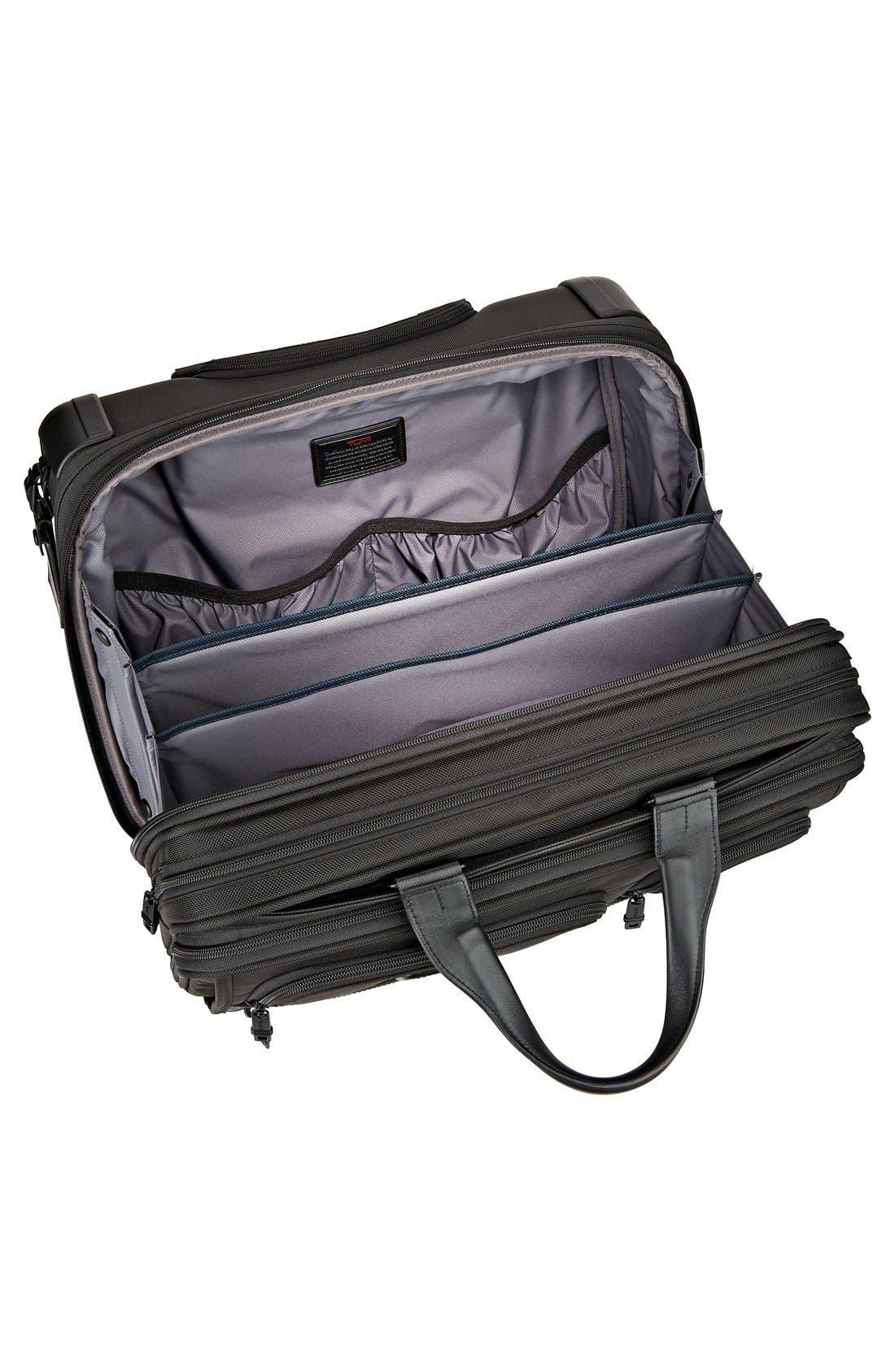 Alpha 2 Deluxe Wheeled Briefcase,                             Alternate thumbnail 4, color,                             Black