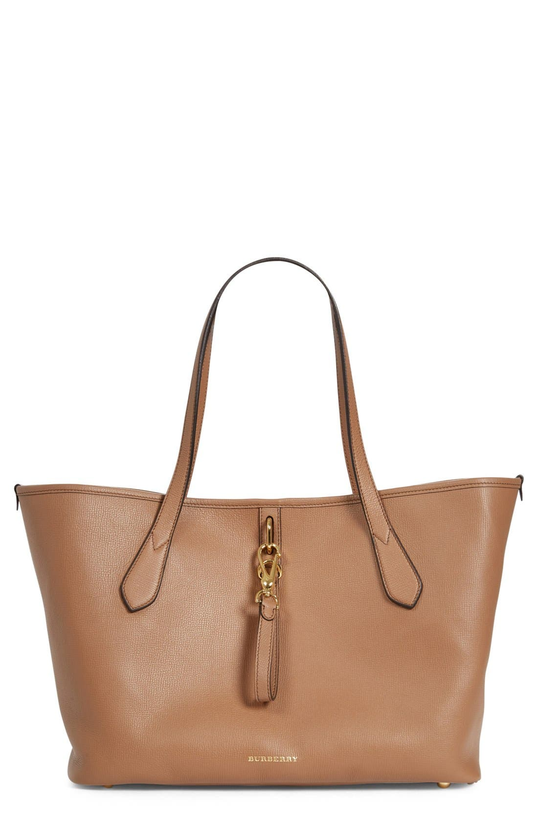 BURBERRY Medium Honeybrook Leather Tote