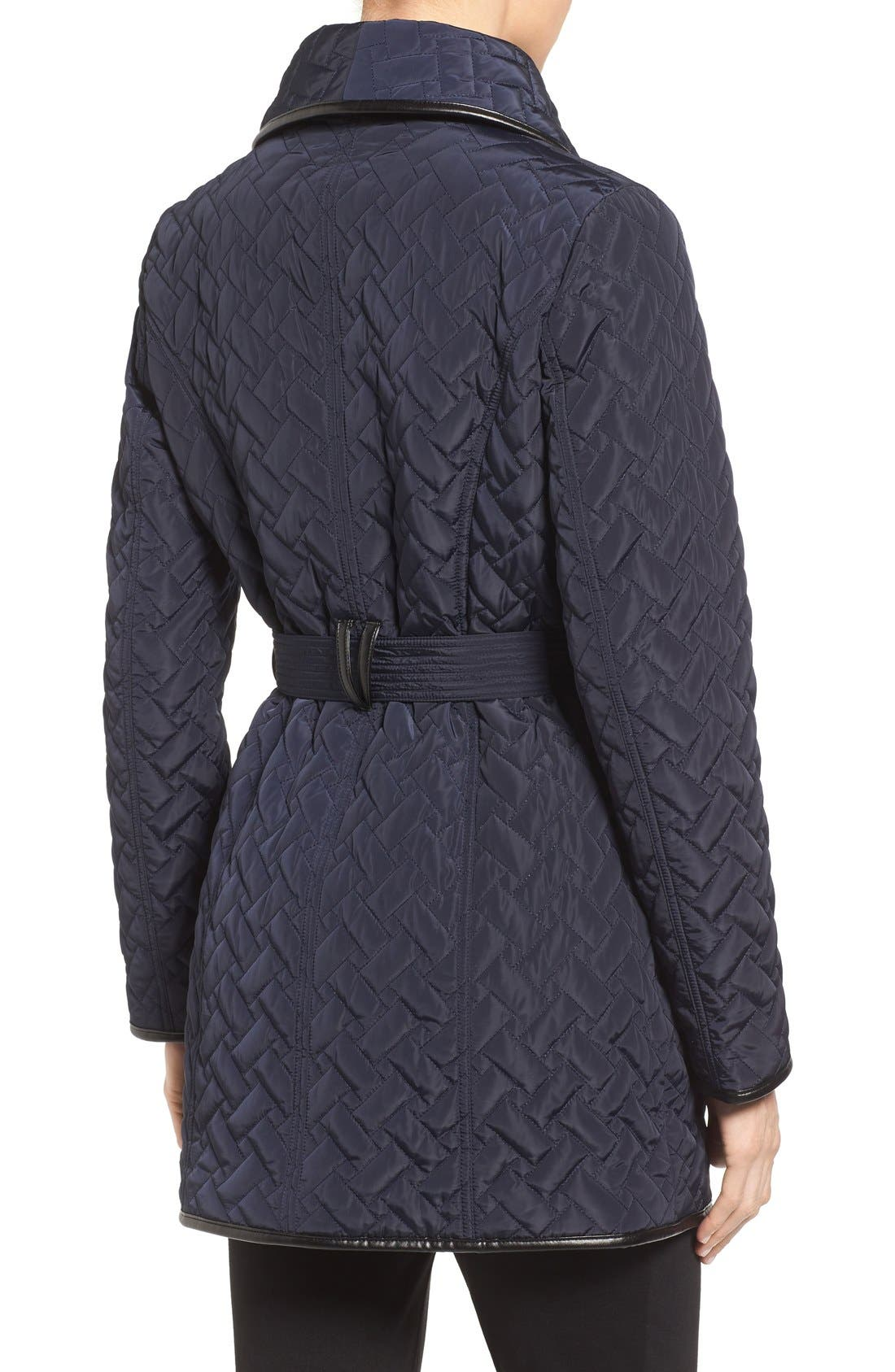 Alternate Image 2  - Cole Haan Signature Water Resistant Quilted Wrap Coat