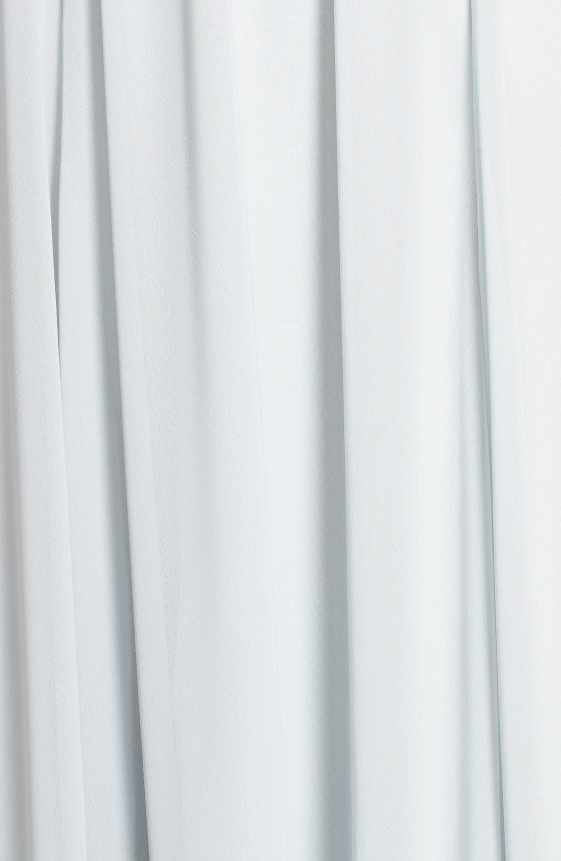 'Jennifer' V-Neck Chiffon Halter Gown,                             Alternate thumbnail 5, color,                             Spa
