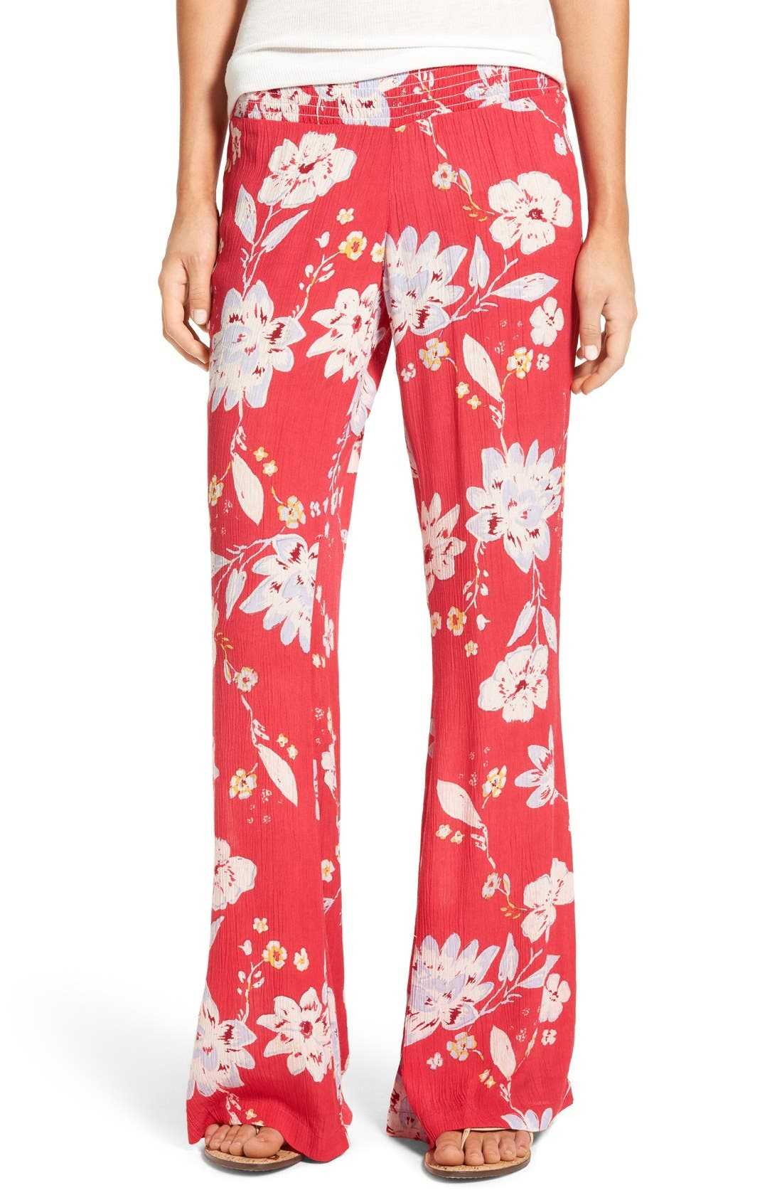 Main Image - Billabong 'Under the Moon' Relaxed Fit Wide Leg Pants