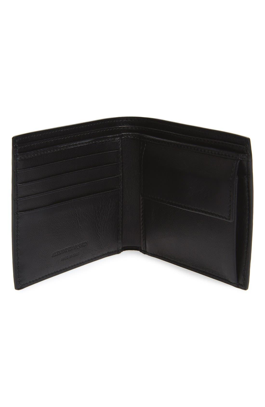 Ribcage Leather Wallet,                             Alternate thumbnail 2, color,                             Black