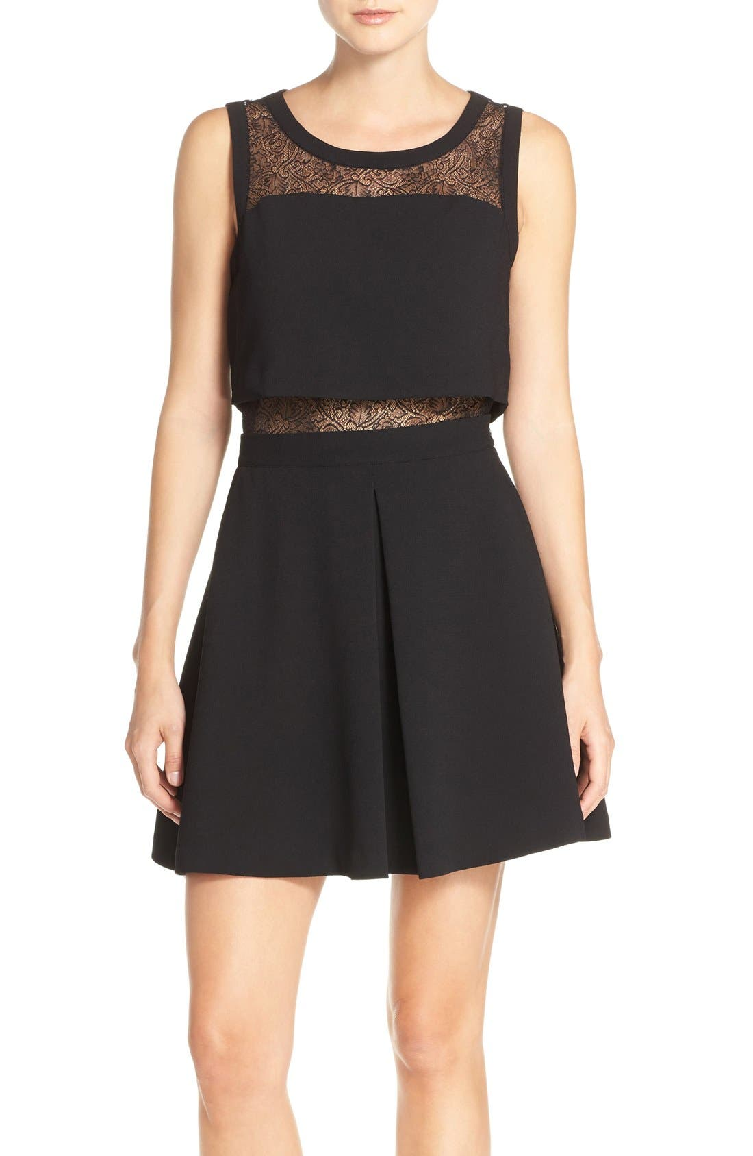 Main Image - Chelsea28 Lace Inset Two-Piece Dress