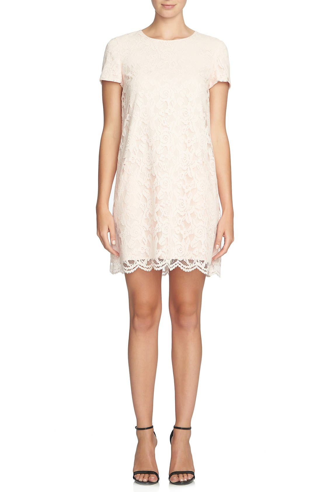 Alternate Image 1 Selected - CeCe 'Kayte' Lace Shift Dress