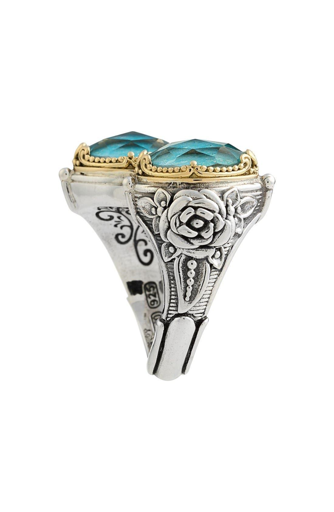 'Iliada' Doublet Ring,                             Alternate thumbnail 2, color,                             Blue/ Green