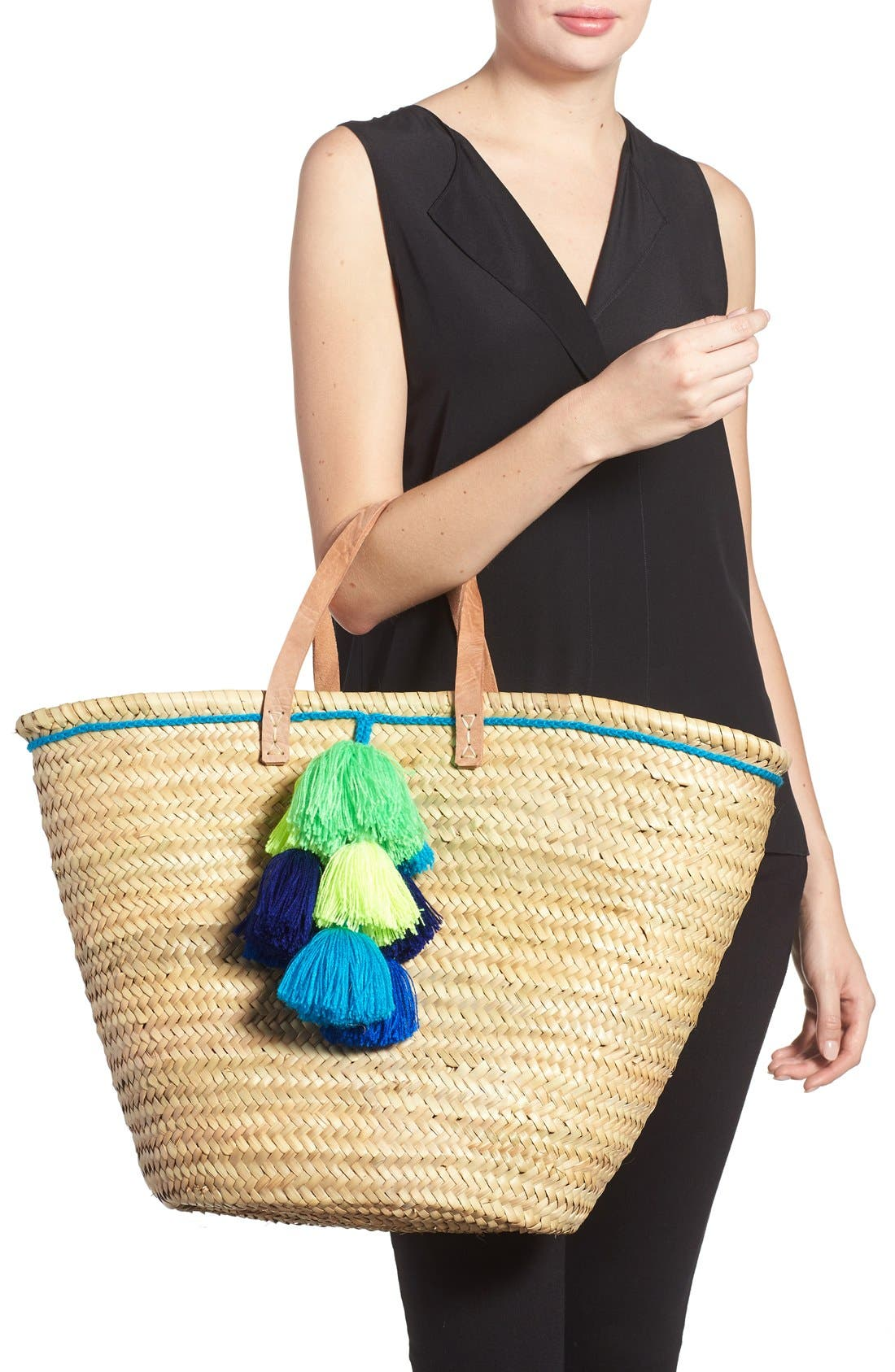 Alternate Image 2  - House of Perna 'Remy' Woven Straw Tote