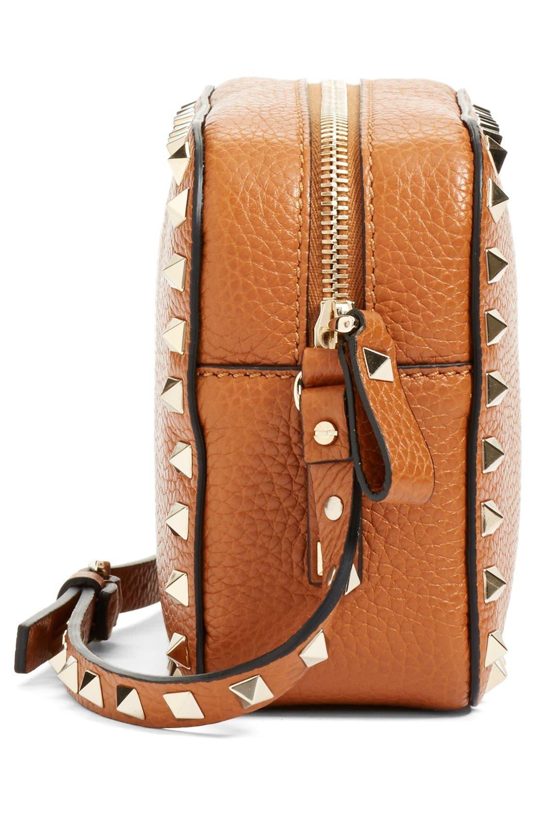 Alternate Image 5  - Valentino 'Rockstud - Alce' Calfskin Leather Camera Crossbody Bag