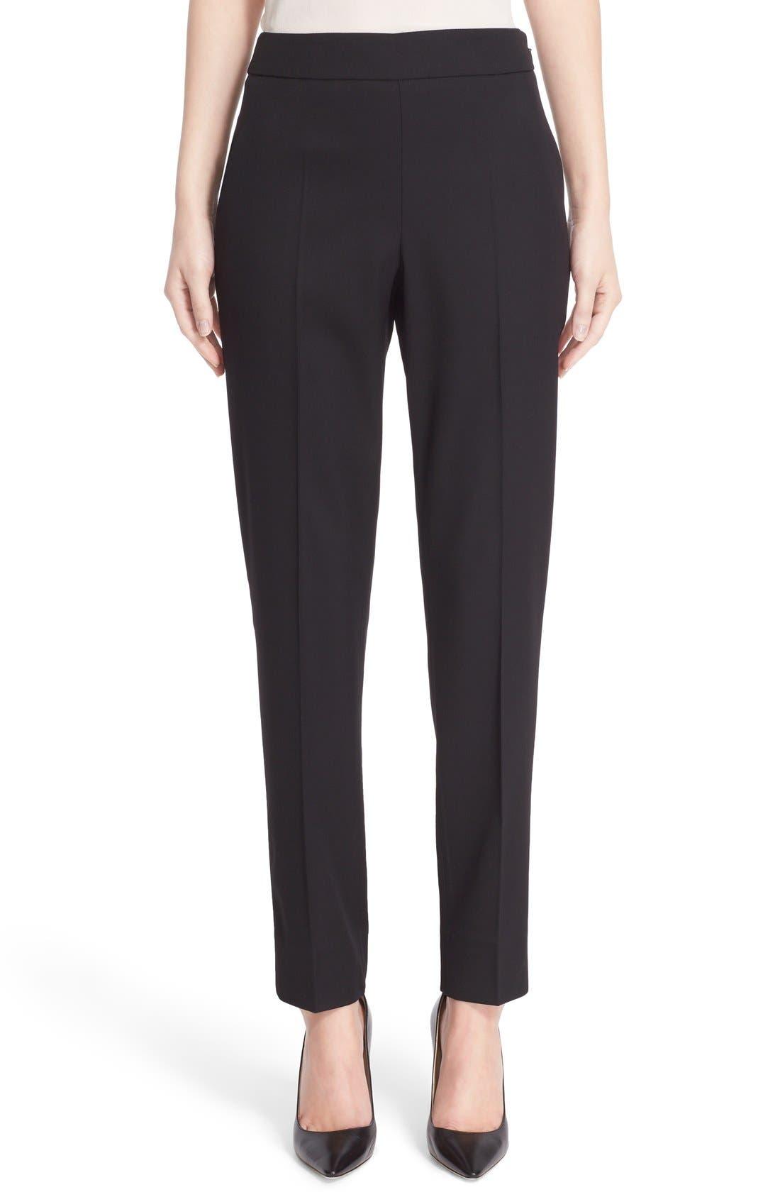 Alternate Image 1 Selected - Oscar de la Renta Stretch Wool Straight Leg Pants