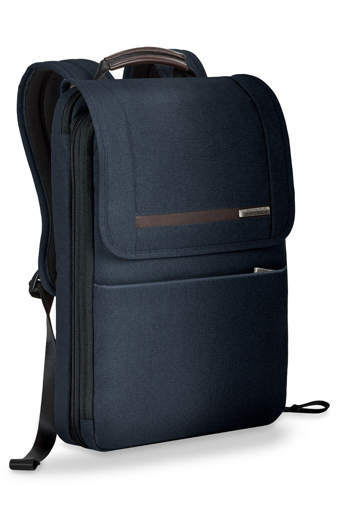 Kinzie Street Expandable Backpack,                             Alternate thumbnail 3, color,                             Navy Blue