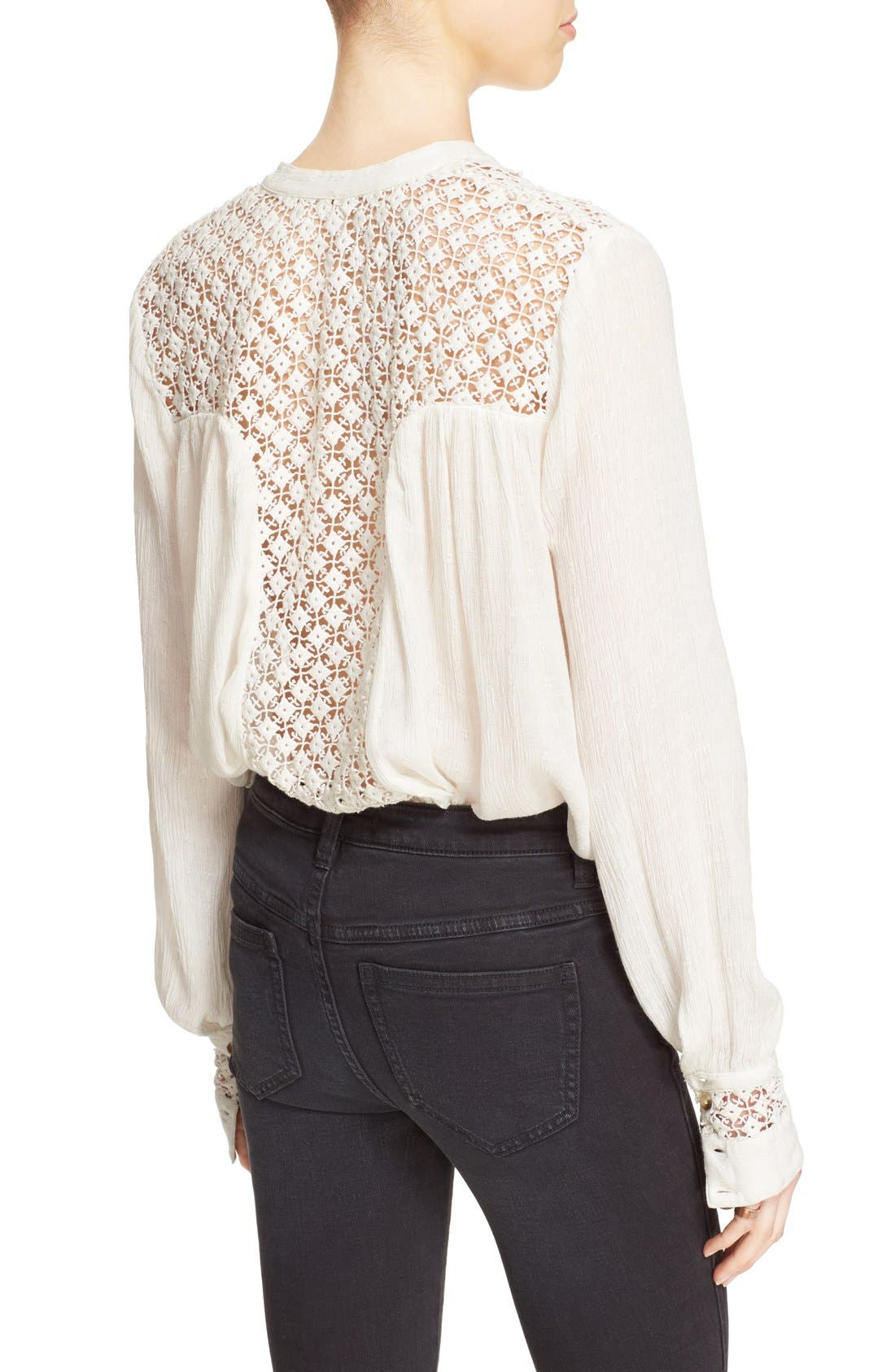 Alternate Image 2  - Free People 'The Best' Button Front Blouse