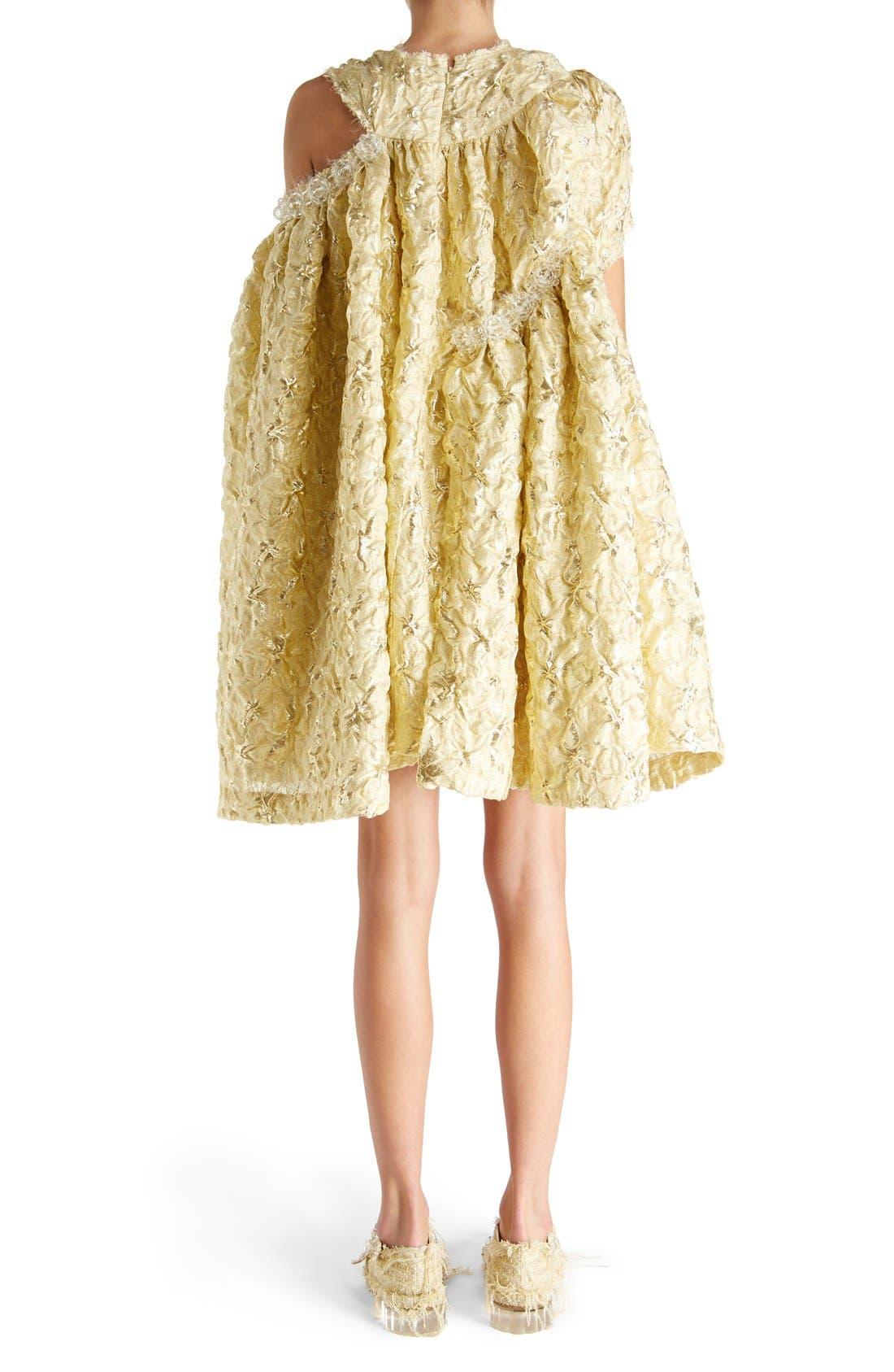 Alternate Image 2  - Simone Rocha 'Lava' Embellished Asymmetrical Trapeze Dress