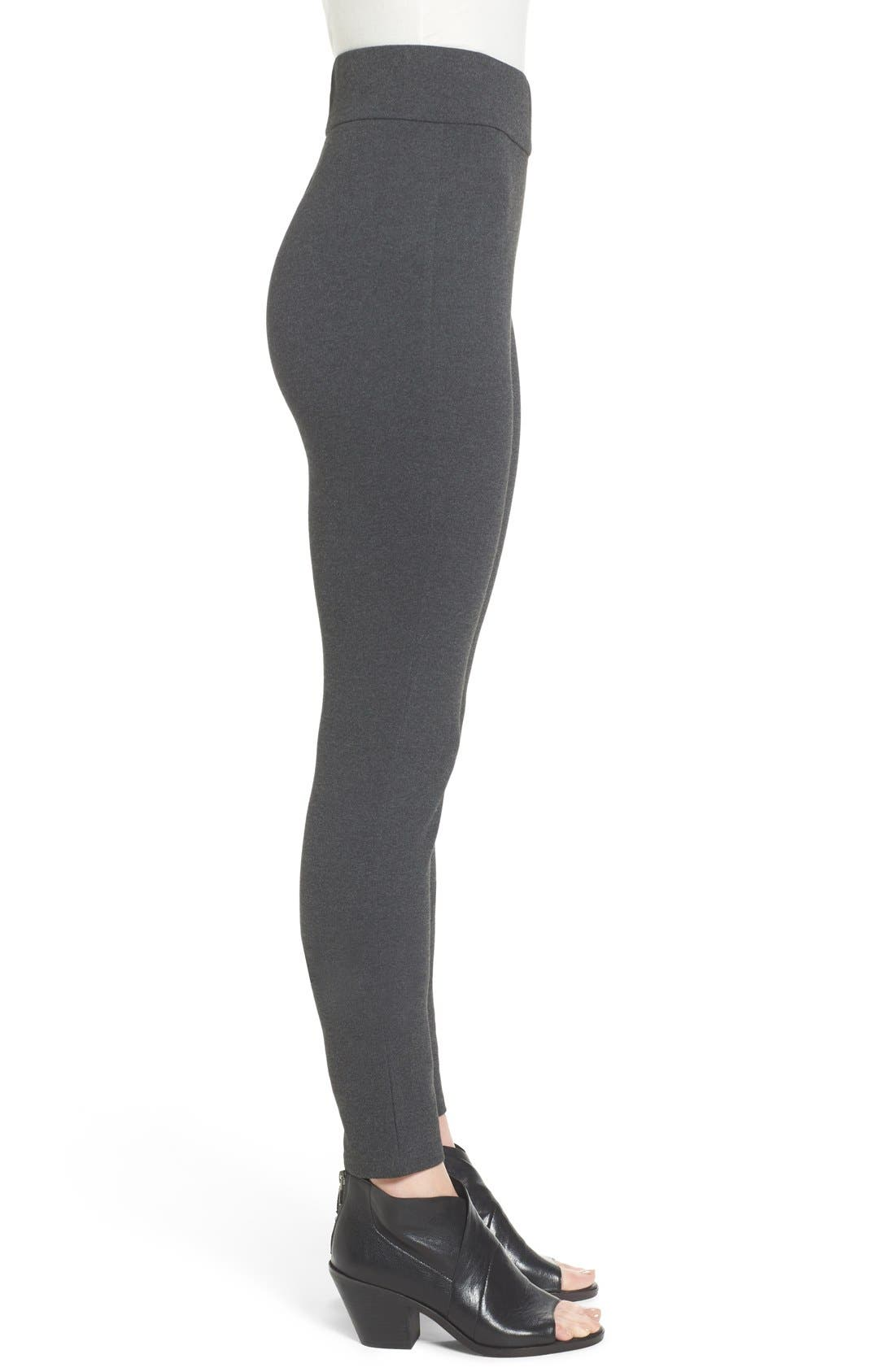 Alternate Image 3  - Eileen Fisher Ponte Knit Leggings (Regular & Petite)