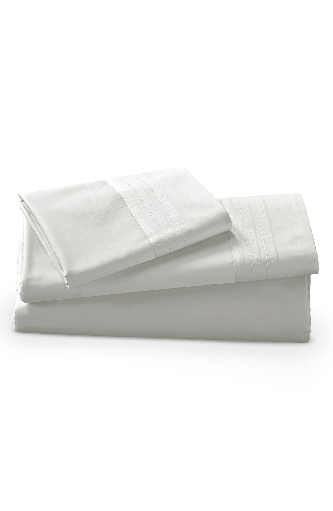 Donna Karan Collection 510 Thread Count Fitted Sheet,                             Main thumbnail 1, color,                             White