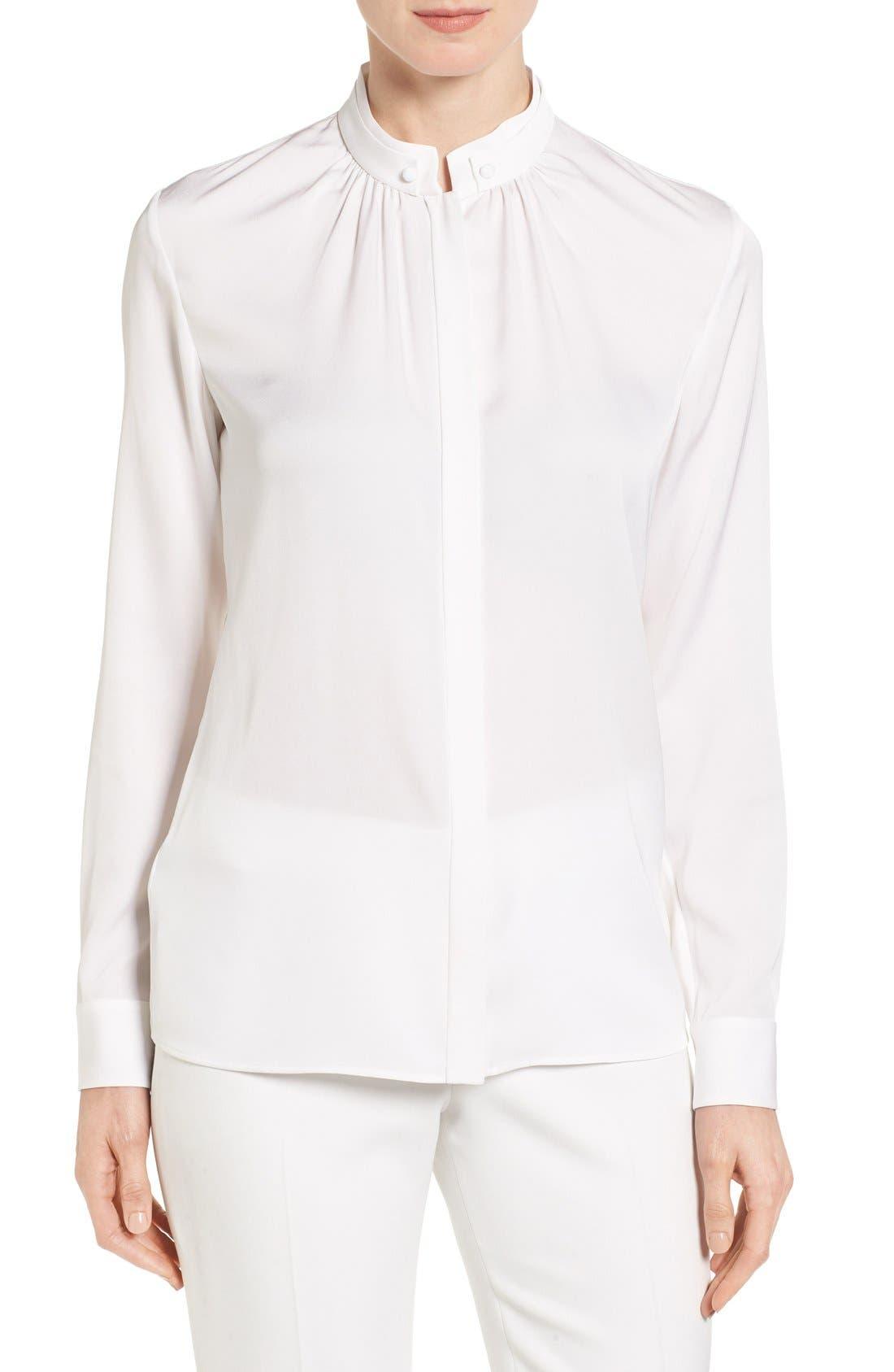 Main Image - BOSS 'Blusil' Stretch Silk Blouse