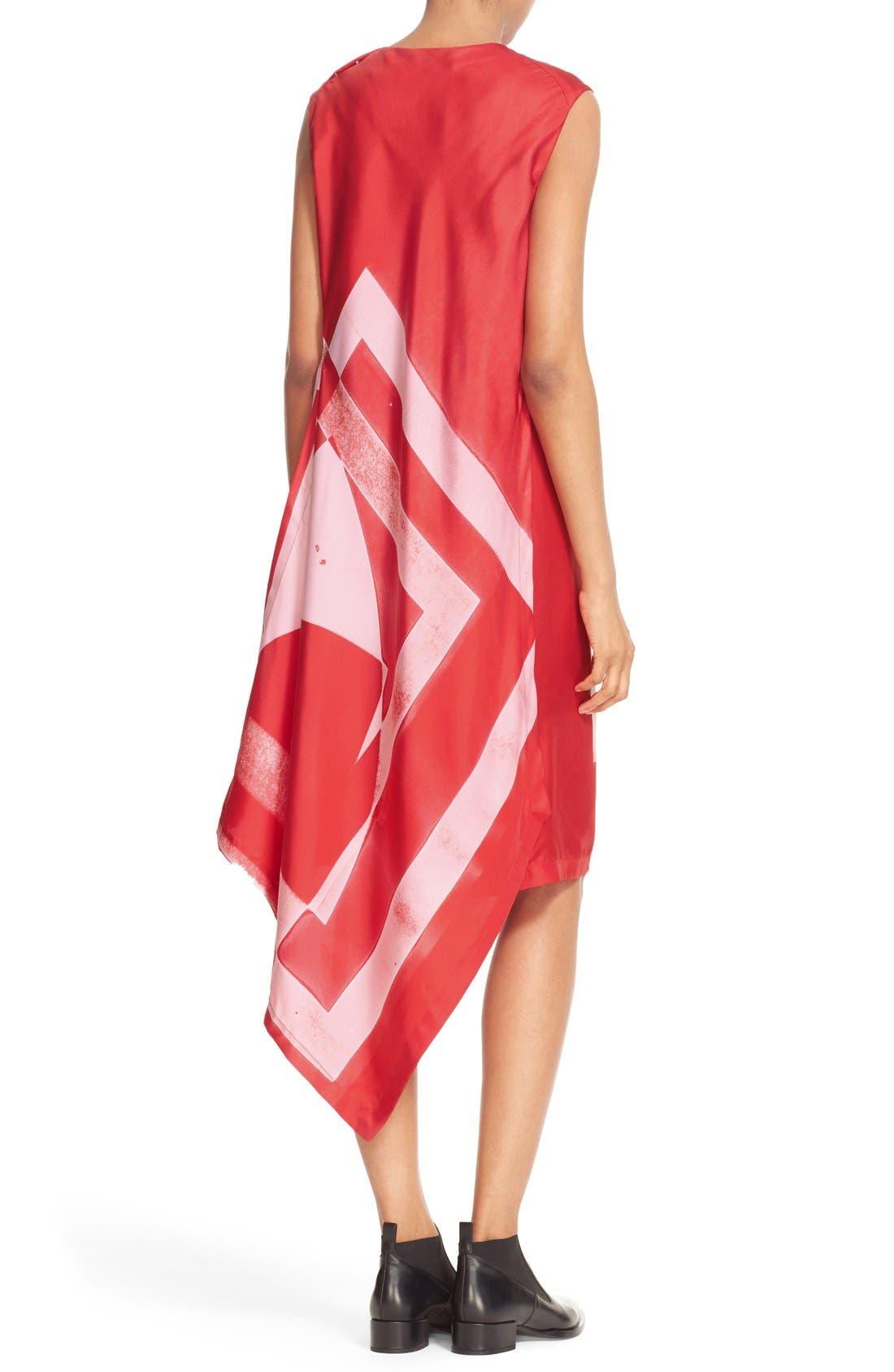 Alternate Image 2  - DKNY Asymmetrical Print Silk Tunic Dress