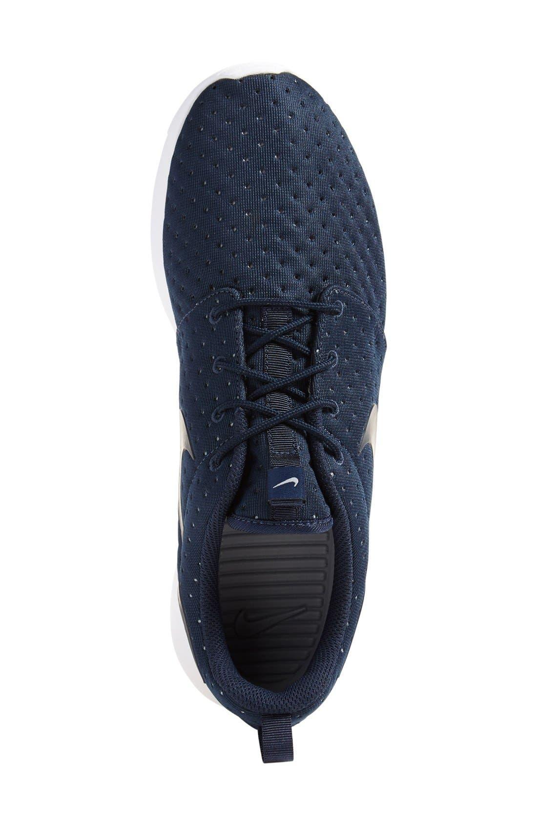'Roshe One SE' Sneaker,                             Alternate thumbnail 4, color,                             Obsidian/ Obsidian/ Grey