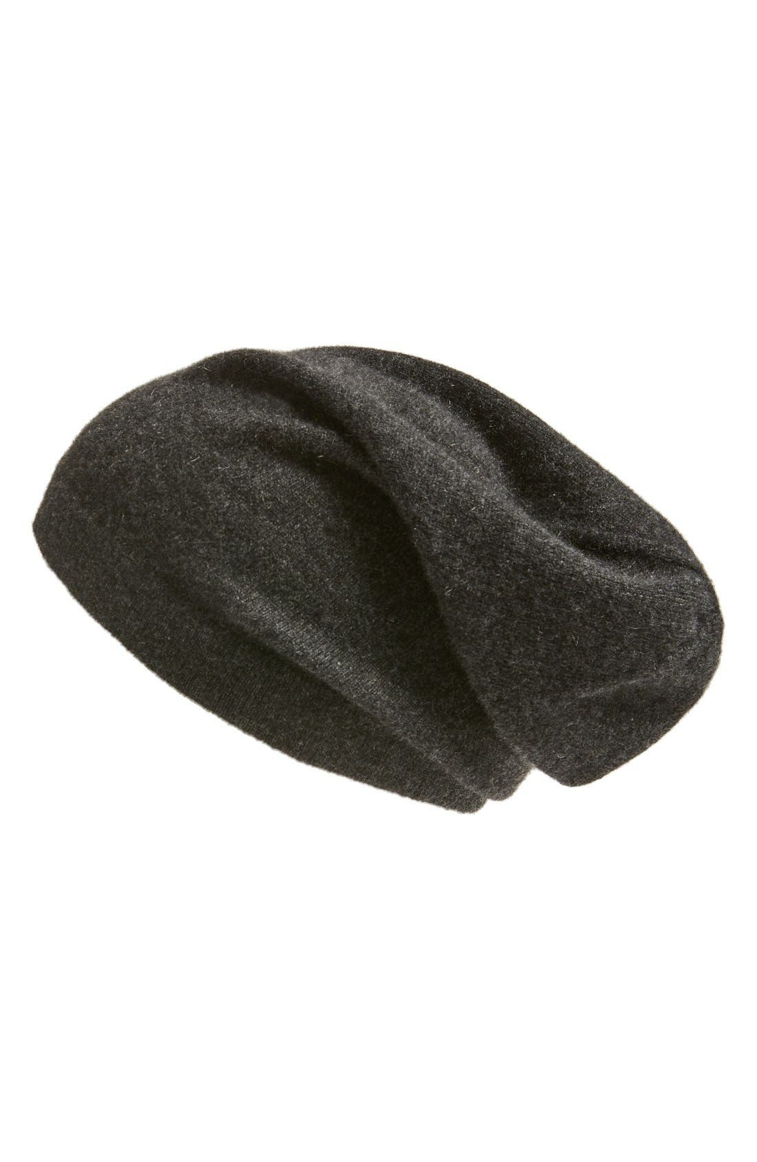 Cashmere Beanie,                         Main,                         color, Charcoal