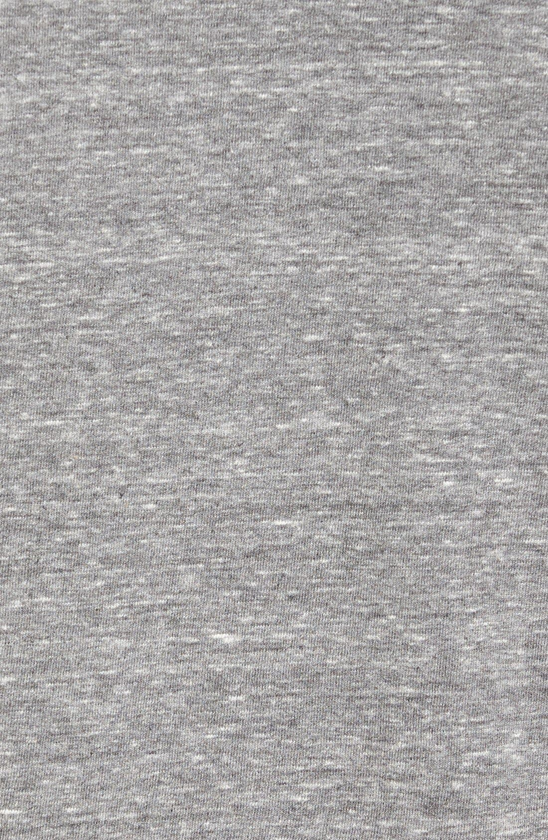 'Waves' Graphic T-Shirt,                             Alternate thumbnail 5, color,                             Heather Grey