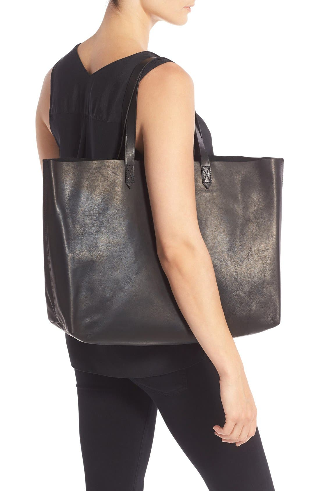 Alternate Image 2  - Madewell 'The East-West Transport' Leather Tote
