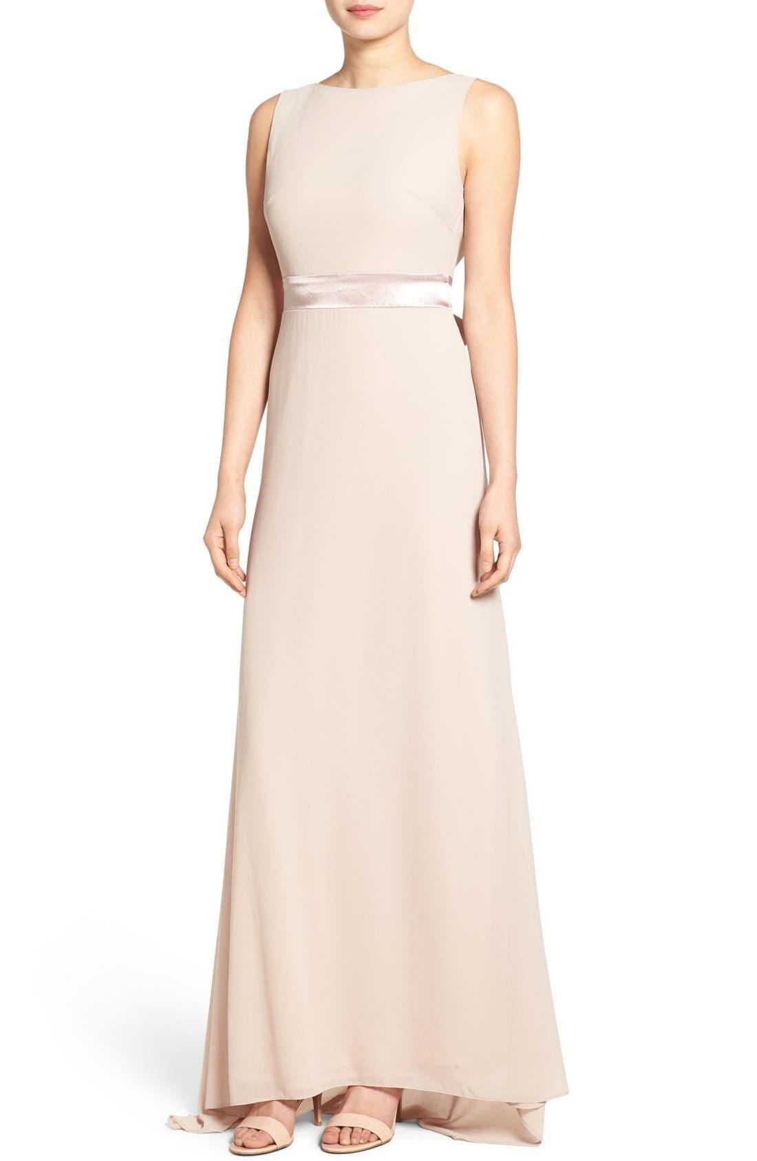 Alternate Image 1 Selected - TFNC 'Halanna' Bow Detail Maxi Dress