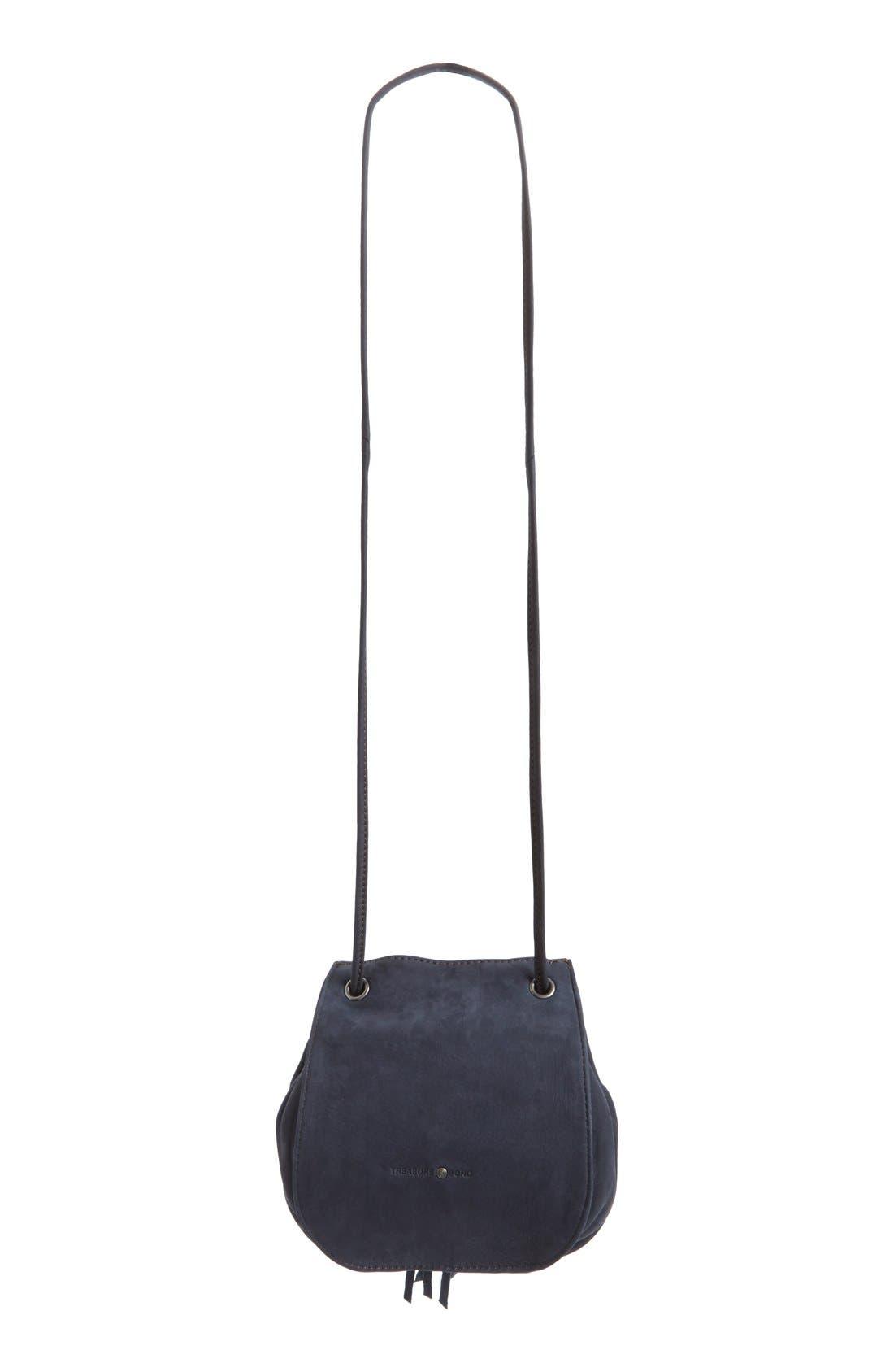 Alternate Image 3  - Treasure&Bond Tasseled Leather Bucket Bag