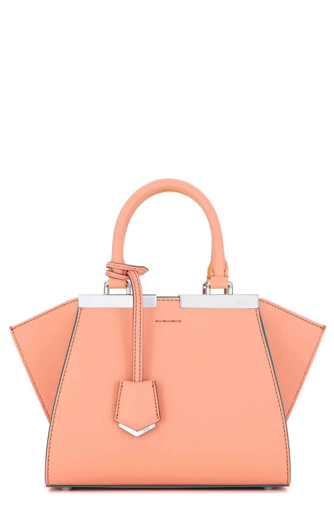 Fendi 'Mini 3Jours' Calfskin Leather Shopper