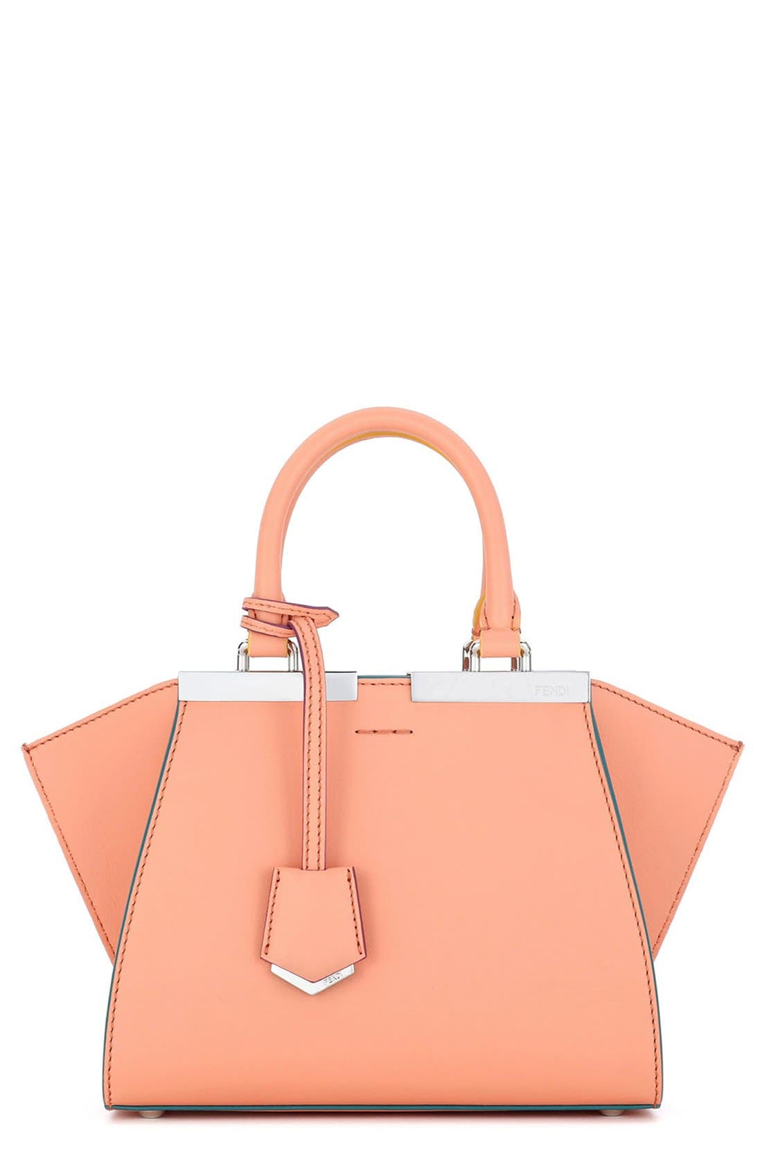 Fendi 'Mini 3Jours' Calfskin Leather Shopper