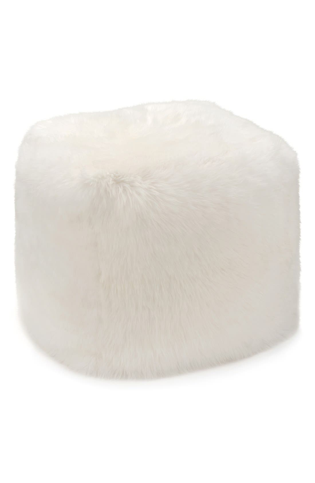 Alternate Image 1 Selected - UGG® Genuine Shearling Pouf
