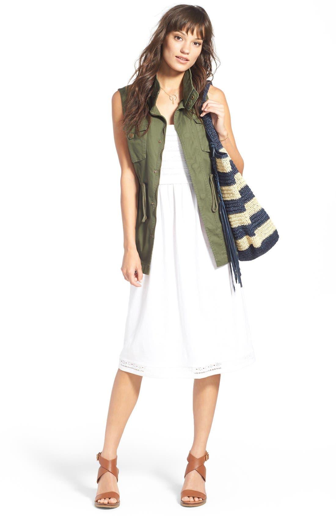 Pleione Military Vest & Caslon® Sundress