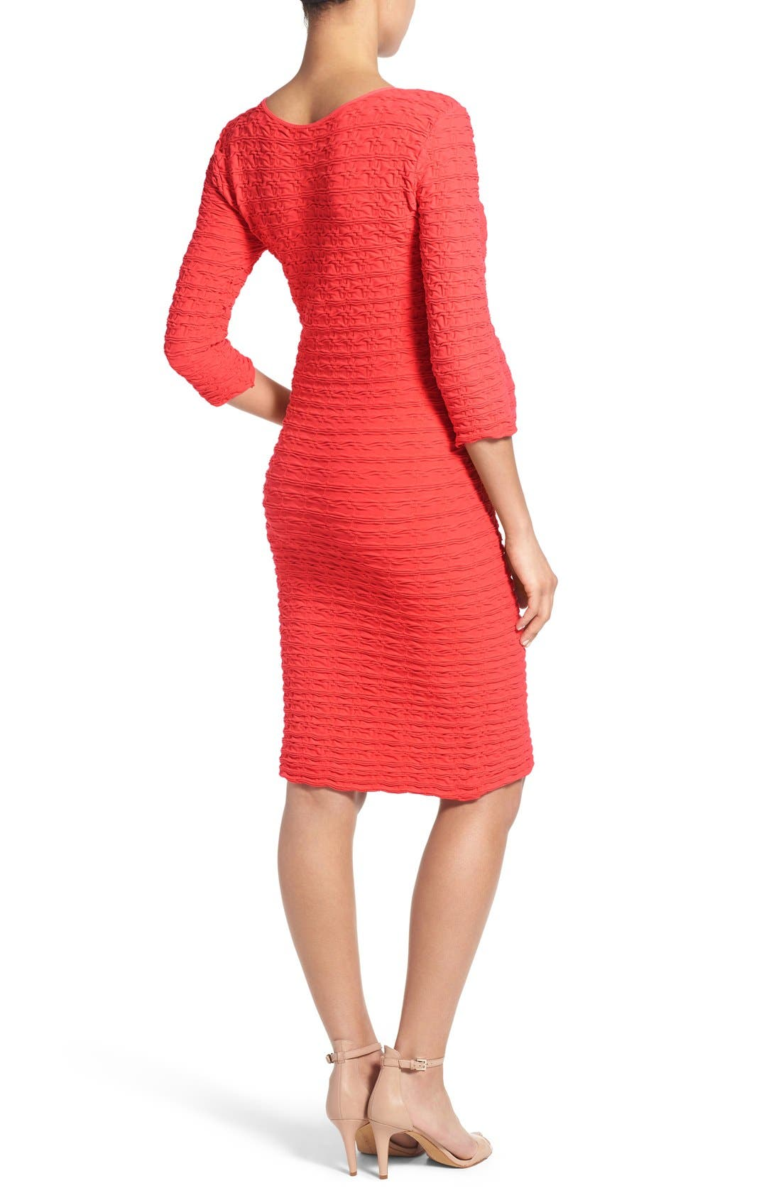 Alternate Image 2  - Tees by Tina Crinkle Maternity Sheath Dress