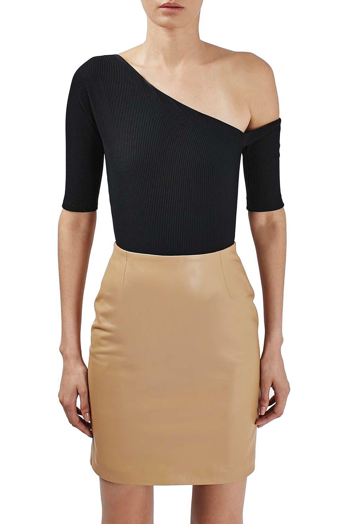 Alternate Image 1 Selected - Topshop Boutique Asymmetrical Bodysuit