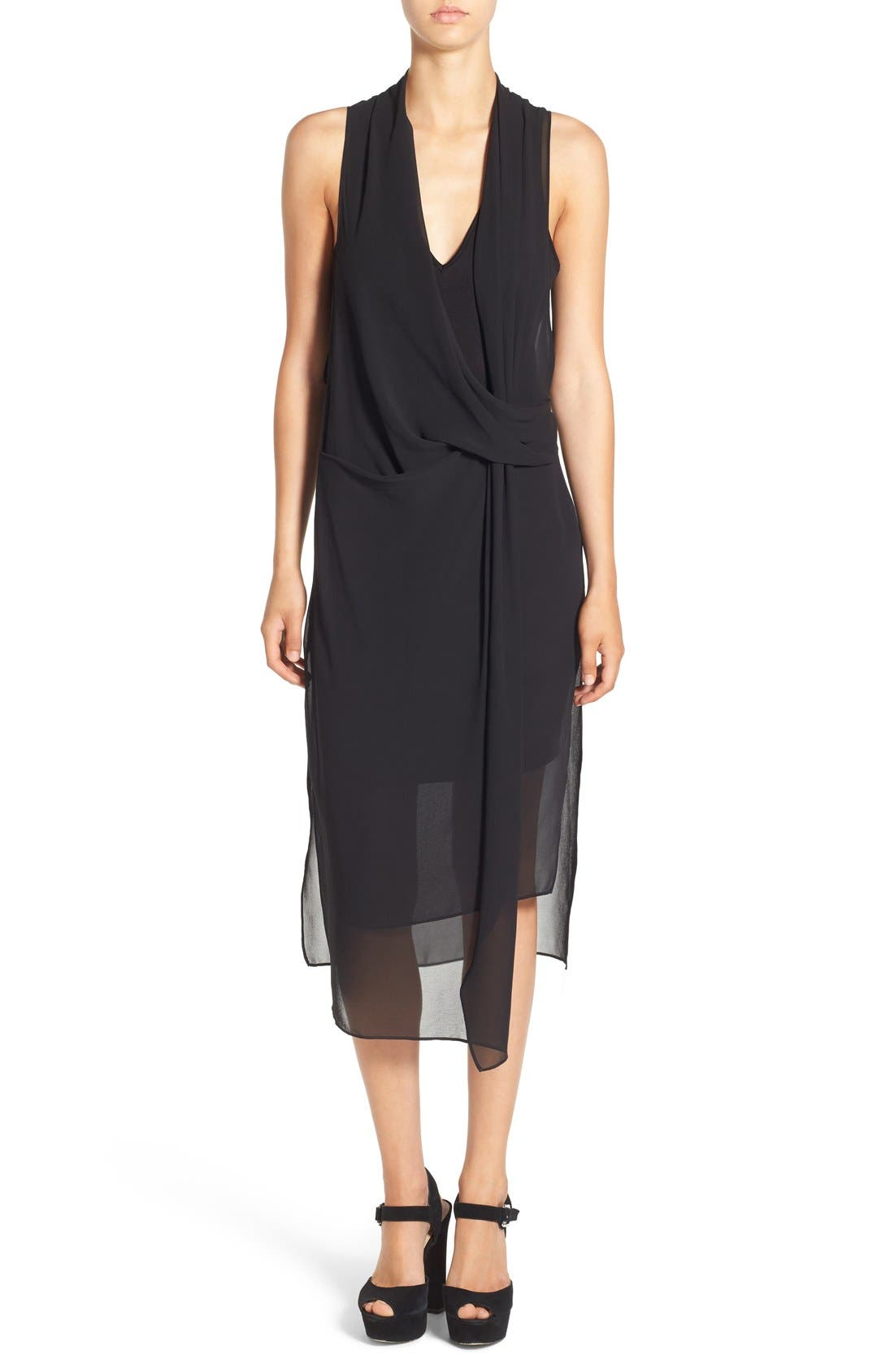 Alternate Image 1 Selected - ASTR Gathered Front Layer Dress