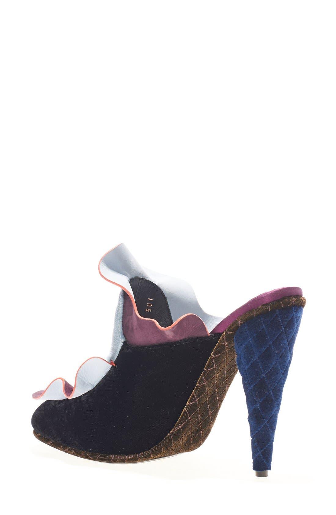 Alternate Image 2  - Fendi 'Velvet Waves' Mule (Women)