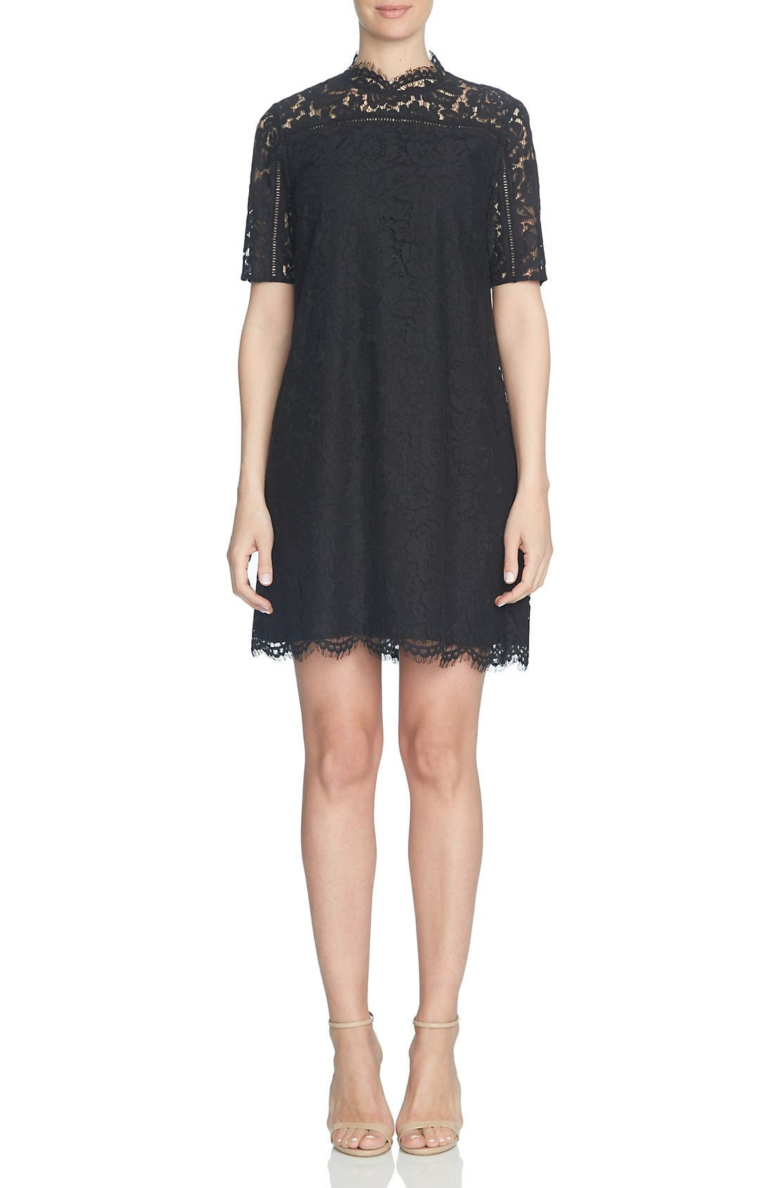 Alternate Image 1 Selected - CeCe Floral Lace Shift Dress