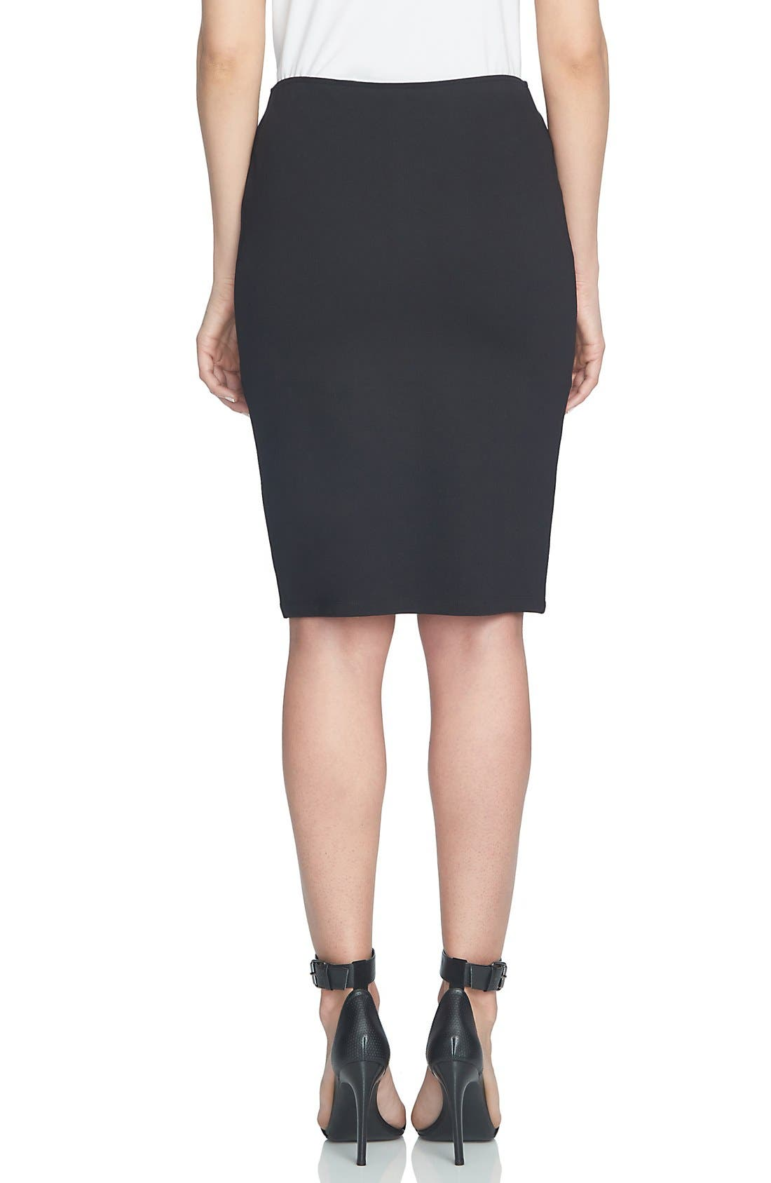 Alternate Image 3  - CeCe Ponte Faux Wrap Pencil Skirt