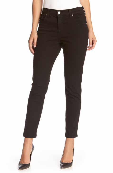 CRVY by Free People Mardi High Waist Skinny Jeans (Sky) by FREE PEOPLE