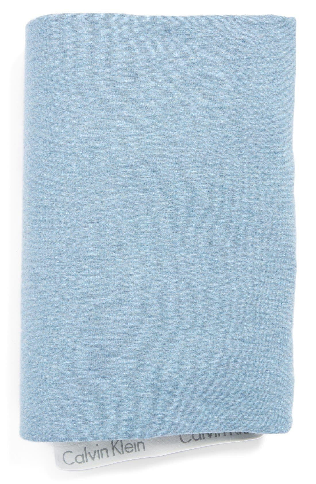Modern Cotton Collection Cotton & Modal Fitted Sheet,                             Main thumbnail 1, color,                             Coastal