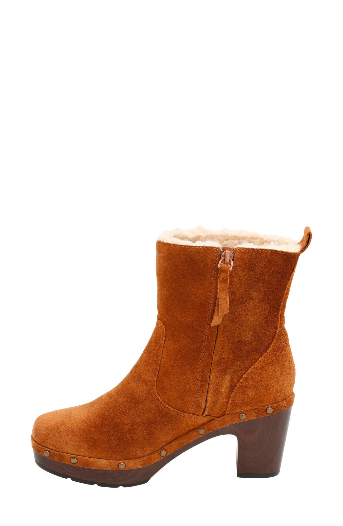 'Ledella Abby' Bootie,                             Alternate thumbnail 2, color,                             Tan Suede